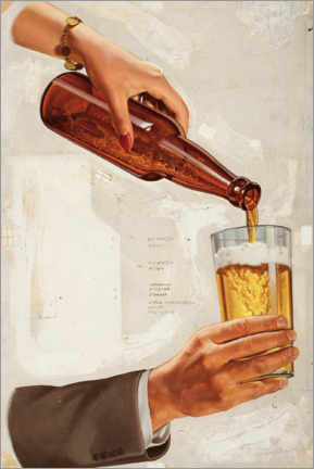 Stampa su schiuma dura  Una bella birra fredda - Advertising Collection