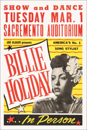 Poster Premium  Billie Holiday - Entertainment Collection