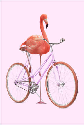Stampa su legno  Flamingo Bike - Jonas Loose
