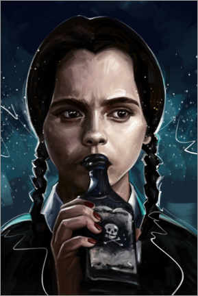 Poster Premium  Wednesday Addams - Dmitry Belov