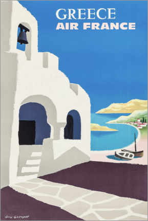 Poster Premium  Grecia (inglese) - Travel Collection