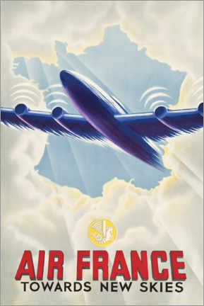 Poster Premium  Air France - Towards New Skies - Travel Collection