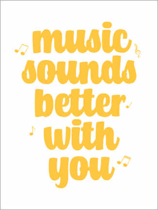 Poster Premium Music sounds better with you