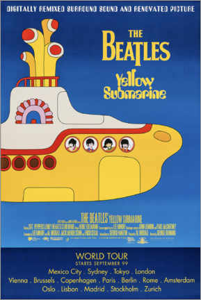 Stampa su tela  The Beatles - Yellow Submarine - Entertainment Collection