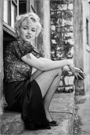 Stampa su schiuma dura  Marilyn durante una pausa cinematografica - Celebrity Collection