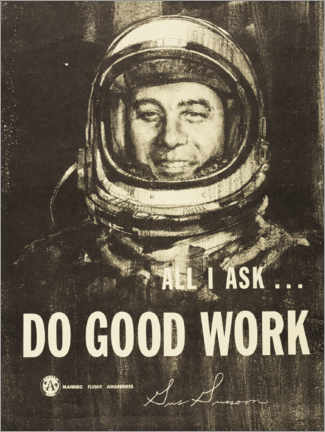 Poster Premium  Do Good Work! - Gus Grissom - Entertainment Collection