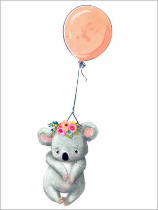 Poster Premium  Koala con palloncino - Kidz Collection