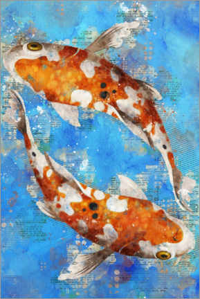 Poster Premium  Koi Fishes - Durro Art