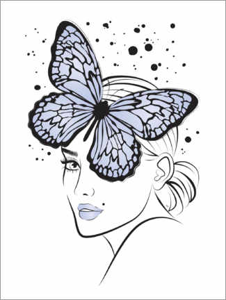 Poster Premium  Lady Butterfly - Martina illustration