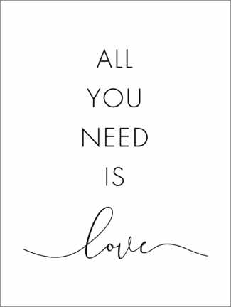 Poster Premium All you need is love