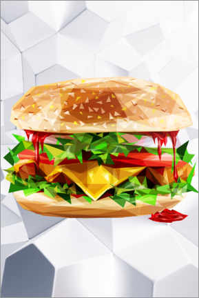 Poster Premium  Hamburger - Dmitry Belov