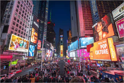 Poster Premium  Times Square a New York City - Jan Christopher Becke