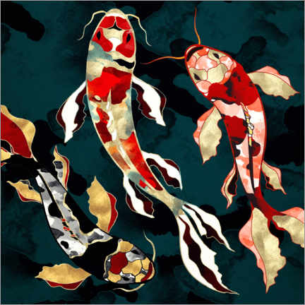 Poster Premium  Koi metallico - SpaceFrog Designs