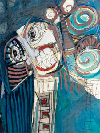 Adesivo murale  The laughing third - MASCH ART