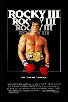 Poster Premium  Rocky III - Entertainment Collection