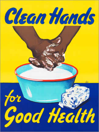 Poster Premium  Clean hands for good health - Advertising Collection