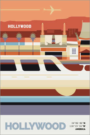Stampa su legno  Hollywood - Nigel Sandor