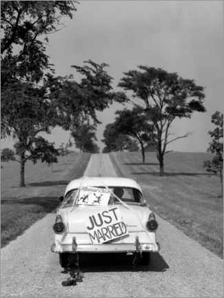 Poster Premium  Just Married