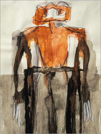 Poster Premium  Orange Body Figure - MASCH ART