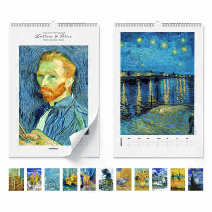Calendario da muro  Yellow & blue 2021 - Vincent van Gogh