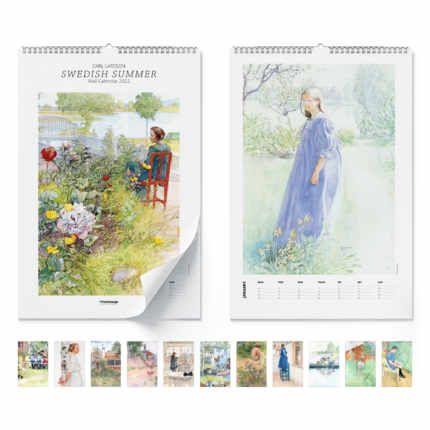 Calendario da muro  Swedish summer 2021 - Carl Larsson