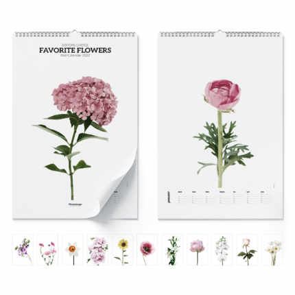 Calendario da muro  Favorite flowers 2021