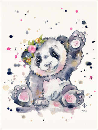 Stampa su tela  Dolce Panda - Sillier Than Sally