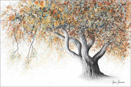 Poster Premium Albero autunnale color ruggine
