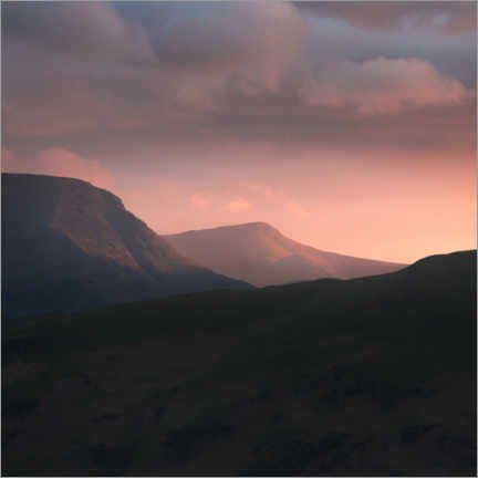 Poster Premium Tramonto sul Lake District
