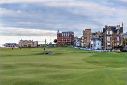 Poster Premium  Buca 18 a St. Andrews Old Course, Scozia - Mike Centioli