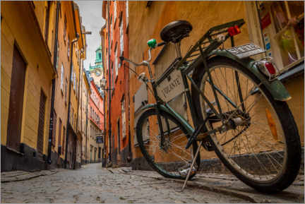 Poster Premium  Bicicletta a Gamla Stan, Stoccolma - Julian Peters