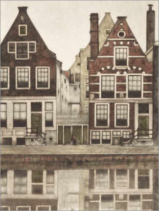 Poster Premium  Case sulla Groenburgwal ad Amsterdam - Frans Everbag