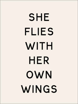 Poster Premium She flies with her own wings