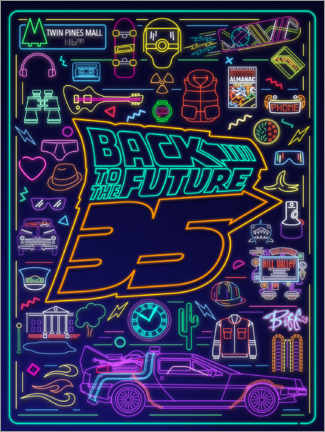 Poster Premium  Back to the future (neon)