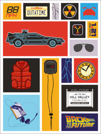 Stampa su plexi-alluminio  Back to the future, Pop Art
