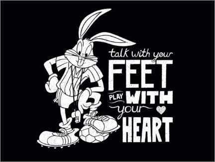 Poster Premium Bugs Bunny - Soccer quote