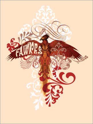 Poster Premium  Harry Potter - Fawkes