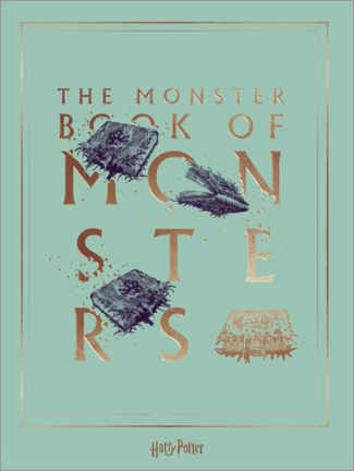 Poster Premium  Harry Potter - The Book of Monsters