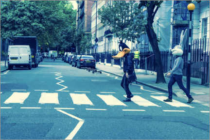 Poster Premium Bugs & Daffy - Abbey Road