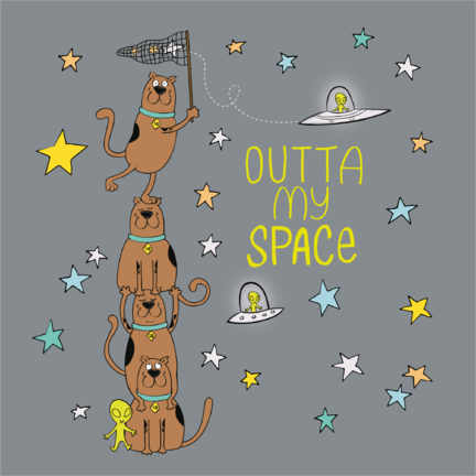 Poster Premium  Scooby - Outta my space