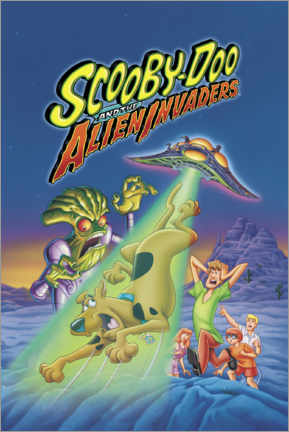 Stampa su plexi-alluminio  Scooby-Doo And The Alien Invaders (Scooby-Doo e gli invasori alieni)