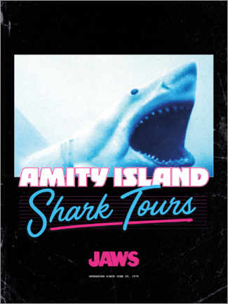 Poster Premium  Shark Tours, retrò