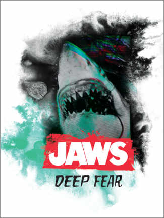 Poster Premium  Jaws (Lo squalo) - Deep Fear