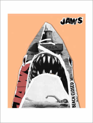 Poster Premium  Jaws (Lo squalo) - Pop Art