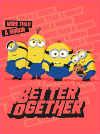 Stampa su legno  Minions, Better Together