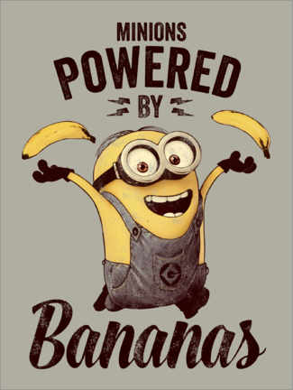 Stampa su vetro acrilico  Minions - Powered by Bananas