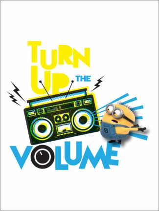 Stampa su alluminio  Minions, Turn up the volume