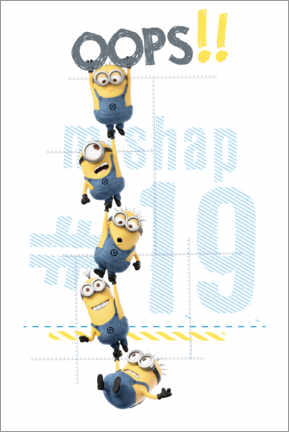 Poster Premium  Minions - Oops