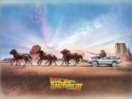 Poster Premium  Back to the future III (Ritorno al futuro III)