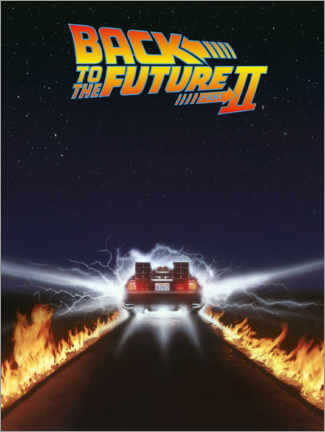 Stampa su alluminio  Back to the future II, DeLorean
